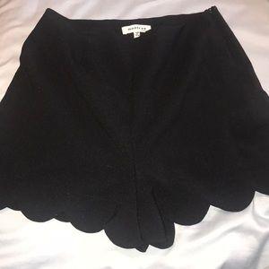Pants - High waisted scalloped shorts